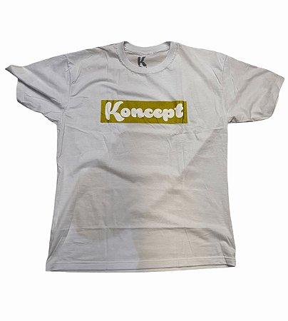 Camiseta Koncept Logo Box - Branca