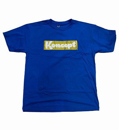 Camiseta Koncept Logo Box - Azul