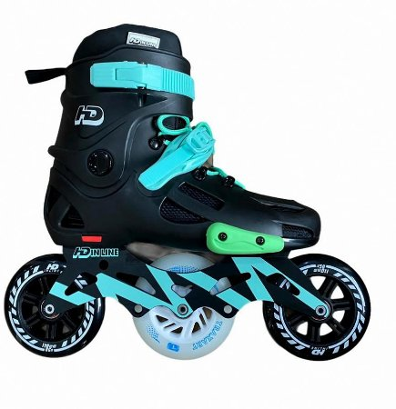 Patins Evolution Hibrido - Custom Verde + Led / 39 BR