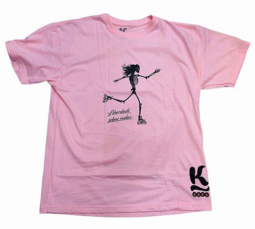 Camiseta Jeeh Vieira Liberdade Sobre Rodas - Rosa