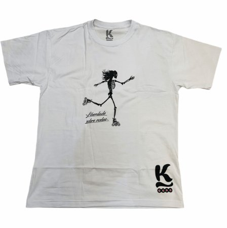 Camiseta Jeeh Vieira Liberdade Sobre Rodas - Branca