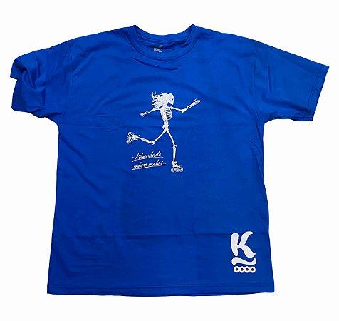 Camiseta Jeeh Vieira Liberdade Sobre Rodas - Azul