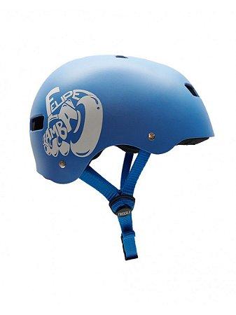 Capacete Niggli Pads Iron Profissional - Felipe Zamba Pro Model Azul Fosco