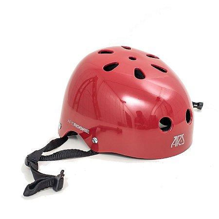 Capacete ARS protection Rookie - Vermelho cereja