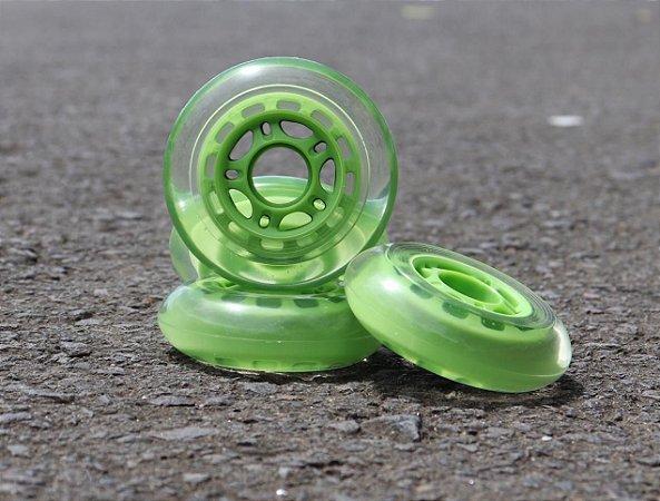 4 Rodas 80mm (82a)  / Verde