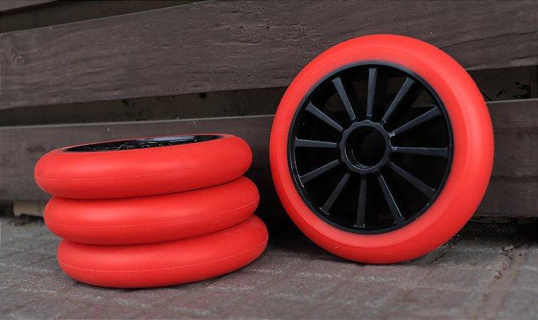 6 Rodas Creme 125mm - Vermelha