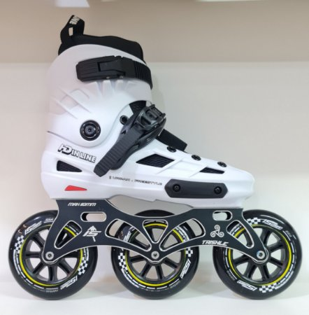 Patins Skull Hd inline / Custom IS Urban 110mm - Branco