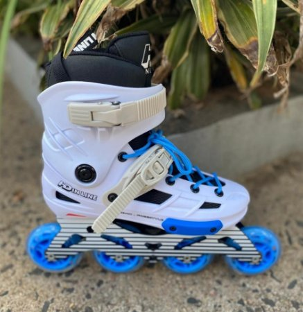 Patins New Skull - Hd inline / Custom Branco Blue