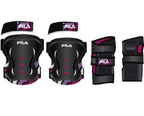 Kit de Proteção FILA infantil - FP Junior - Rosa