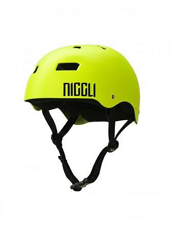 Capacete Niggli Pads Iron Profissional - Fosco Amarelo Neon