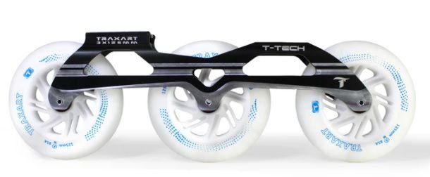 Combo: Base Traxart T-TECH 125mm DY-153 com rodas LED 125mm
