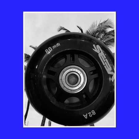 4 Rodas Seba 80mm 82a com rolamentos abec5 - Preta