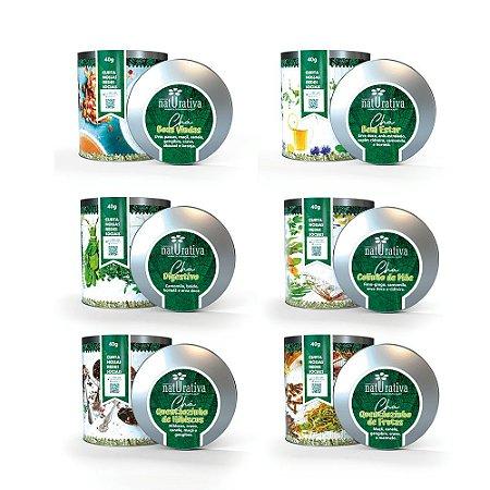 KIt Chás - Composto por 6 latas de Chás com 40 g cada