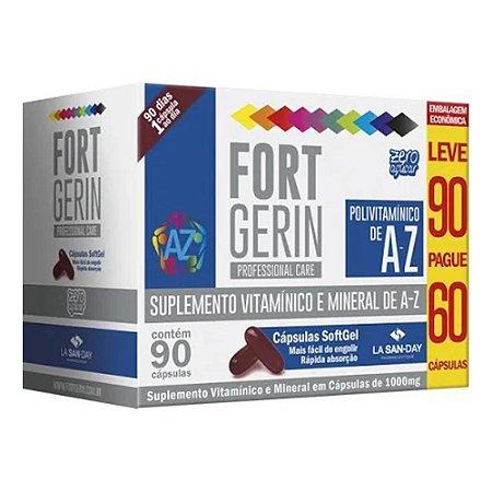 Fort Gerin Polivitaminico de A- Z  Leve 90 Pague 60 Cápsulas