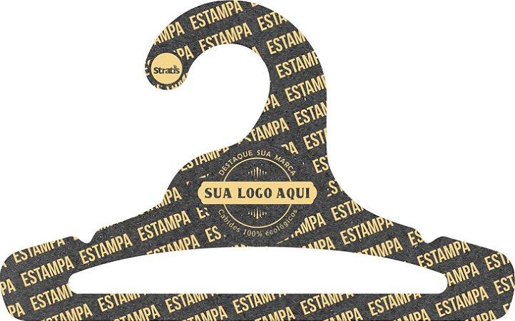 Cabide Personalizado com sua logo / Infantil Aberto / Preto H / CS101