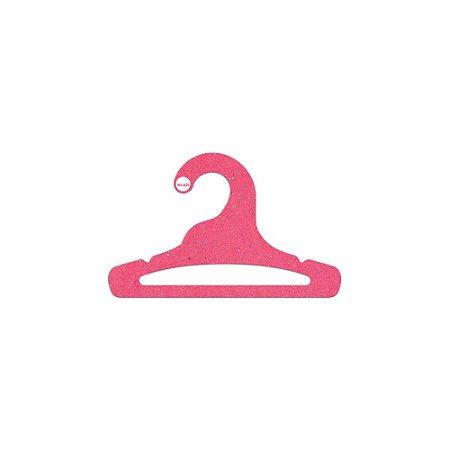 Cabide Infantil Aberto - Color Face  - Rosa - CS101