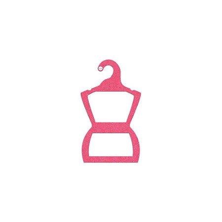 Cabide Silhueta Bebê - Color Face - Rosa - CS106