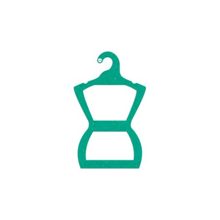 Cabide Silhueta Infantil - Color Face  -Verde -  CS107