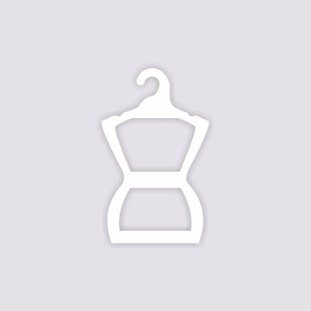 Cabide Silhueta  Infantil - Capa branca - CS107