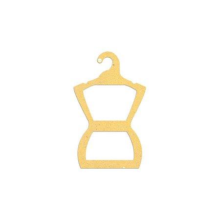 Cabide Silhueta Juvenil - Color Face - Amarelo -  CS108