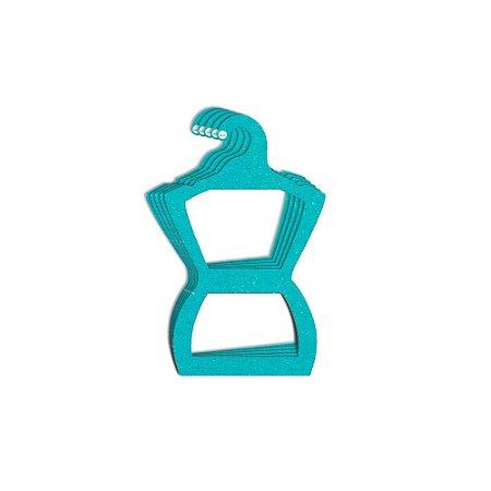 Cabide Silhueta Juvenil - Color Face - Azul Ciano -  CS108