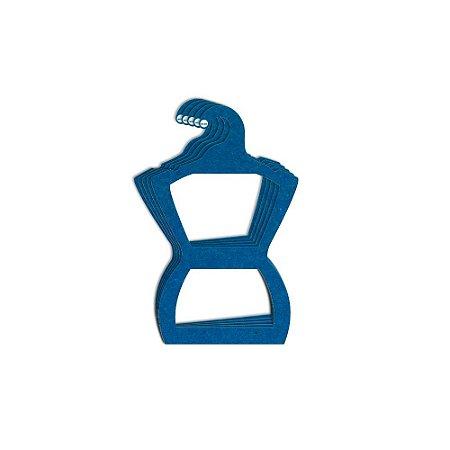 Cabide Silhueta Juvenil - Color Face - Azul Royal -  CS108