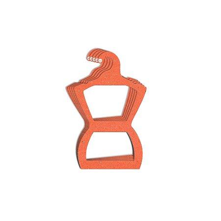 Cabide Silhueta Juvenil - Color Face - Laranja-  CS108
