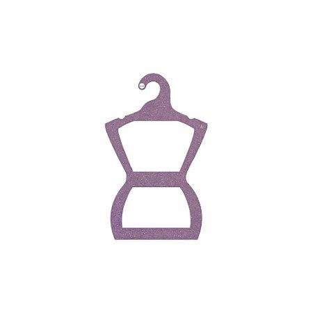 Cabide Silhueta Juvenil - Color Face - Lilás -  CS108
