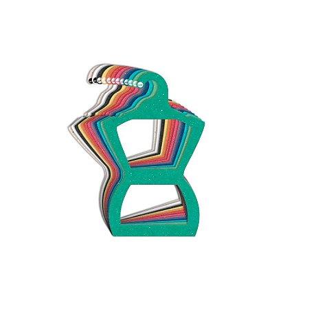 Cabide Silhueta Juvenil - Color Face - Sortido - CS108