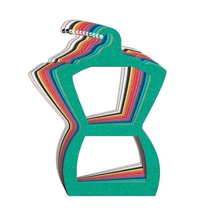 Cabide Silhueta Adulto - Color Face - Sortido - CS109