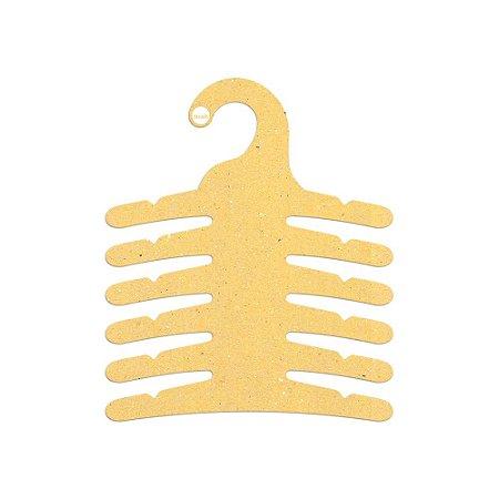 Cabide Infantil Multifuncional 6 Ganchos -Color Face - Amarelo - CS115