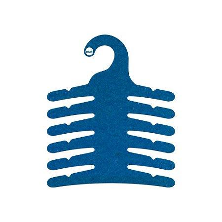 Cabide Infantil Multifuncional 6 Ganchos -Color Face - Azul Royal - CS115