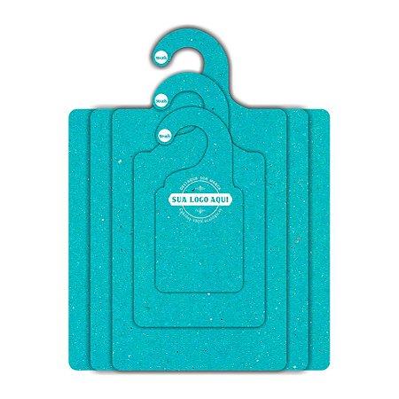 Kit Gabarito Personalizado com sua logo / Color Face / Azul Ciano -  CS506