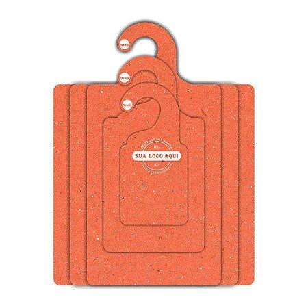 Kit Gabarito Personalizado com sua logo / Color Face / Laranja -  CS506