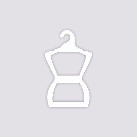 Atacado - Cabide Silhueta Infantil - Capa Branca - CS107