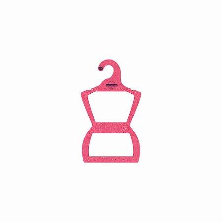 Cabide Personalizado com sua logo - Silhueta Bebê - Color Face - Rosa -  CS106