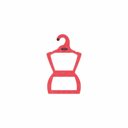Cabide Personalizado com sua logo - Silhueta Bebê - Color Face - Vermelho -  CS106