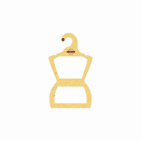 Cabide Personalizado com sua logo - Silhueta Infantil -Color Face - Amarelo -  CS107