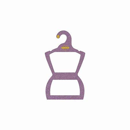 Cabide Personalizado com sua logo - Silhueta Infantil -Color Face - Lilás -  CS107