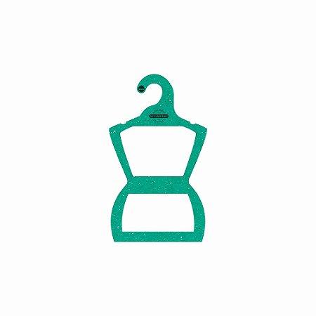 Cabide Personalizado com sua logo - Silhueta Infantil -Color Face - Verde -  CS107