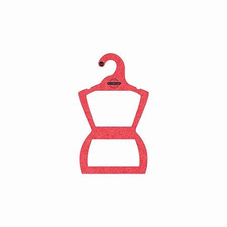 Cabide Personalizado com sua logo - Silhueta Infantil -Color Face - Vermelho -  CS107