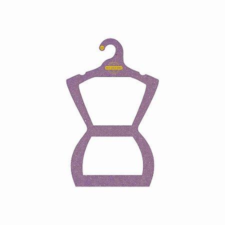 Cabide Personalizado com sua logo - Silhueta Juvenil - Color Face - Lilás-  CS108