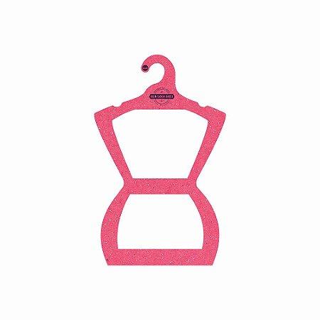 Cabide Personalizado com sua logo - Silhueta Juvenil - Color Face - Rosa -  CS108