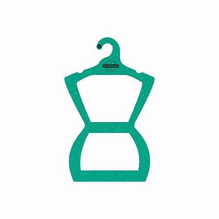 Cabide Personalizado com sua logo - Silhueta Juvenil - Color Face - Verde -  CS108