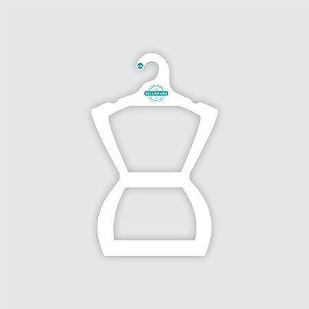 Cabide Personalizado com sua logo - Silhueta Juvenil - Capa Branca -  CS108