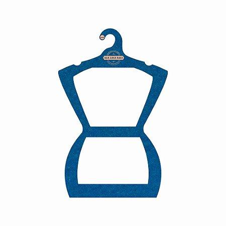 Cabide Personalizado com sua logo - Silhueta Adulto - Color Face - Azul Royal- CS109