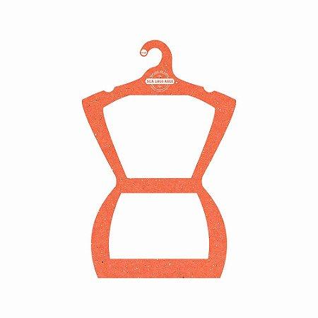 Cabide Personalizado com sua logo - Silhueta Adulto - Color Face - Laranja - CS109