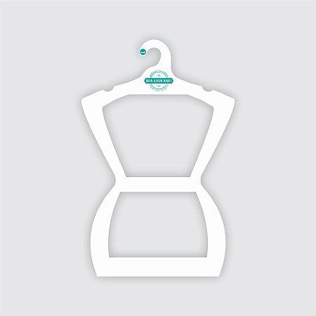 Cabide Personalizado com sua logo - Silhueta Adulto - Color Face - Capa Branca - CS109