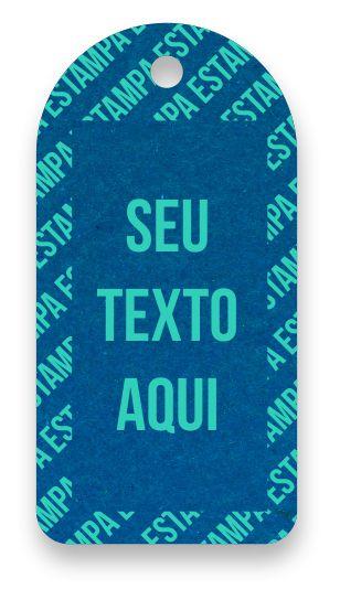 Tag  Personalizada - Etiqueta para Roupas com sua marca- Color Face - Azul Royal - CS300