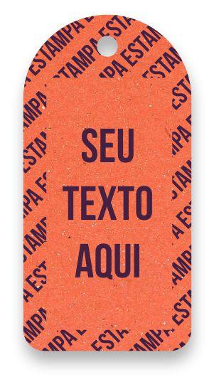 Tag  Personalizada - Etiqueta para Roupas com sua marca- Color Face - Laranja - CS300